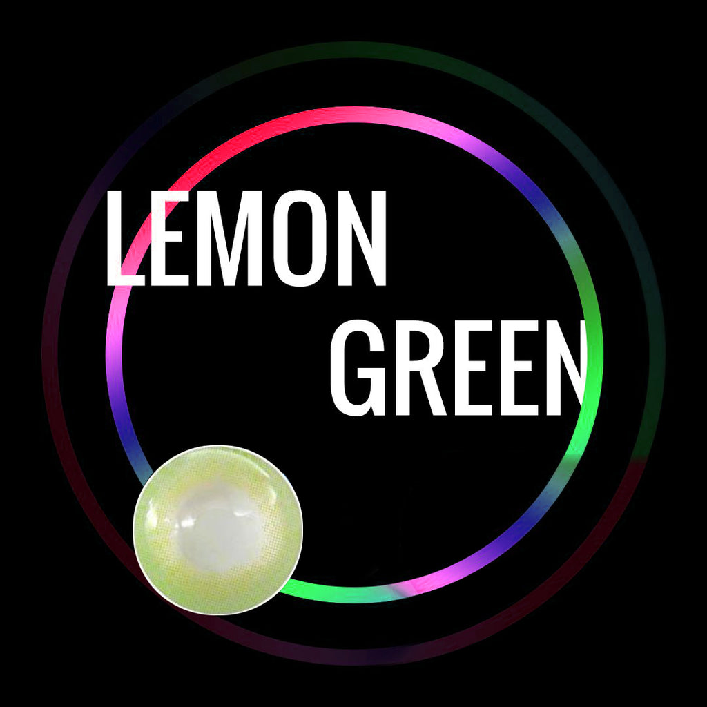 Eye Circle Lens Lemon Green prescription colored contact lenses-Eyemi