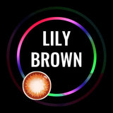 Eye Circle Lens Lily Brown prescription colored contact lenses-Eyemi