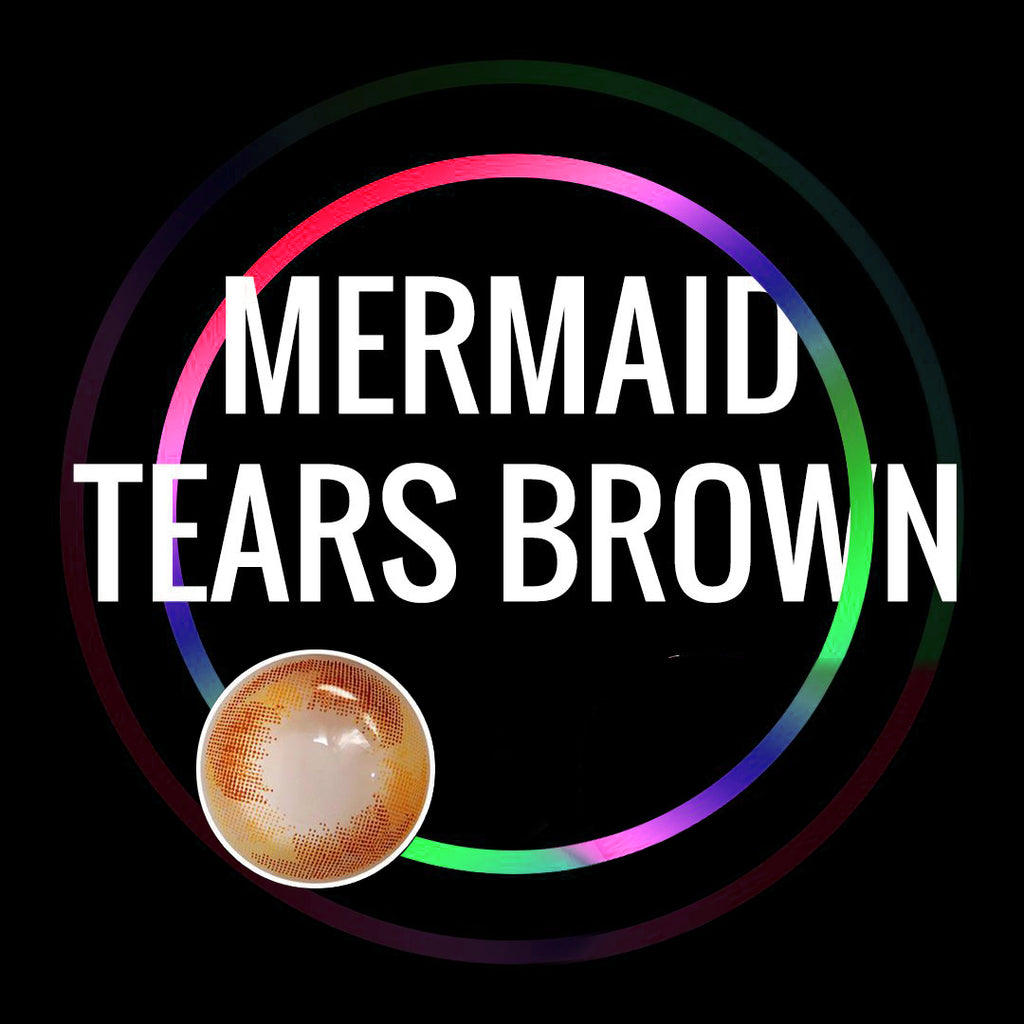 Eye Circle Lens Mermaid Tears Brown prescription colored contact lenses-Eyemi