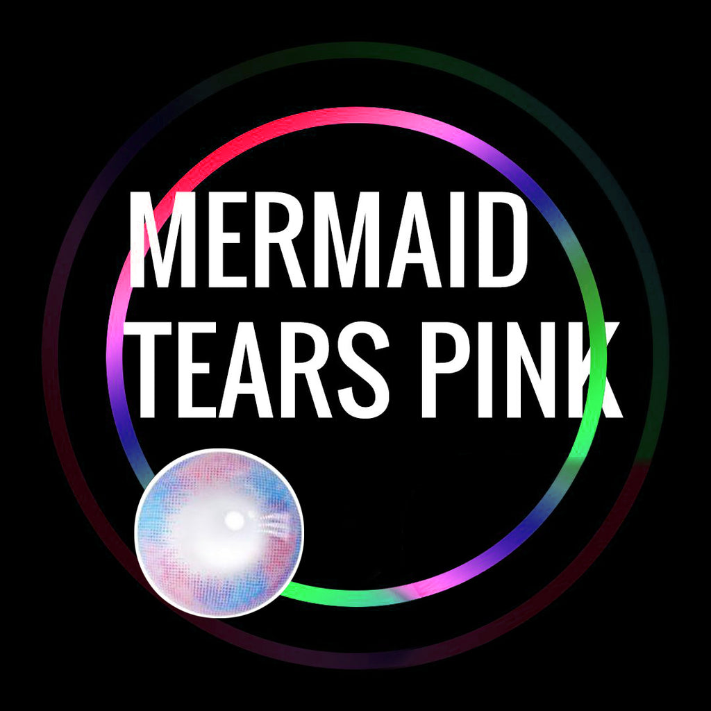 Eye Circle Lens Mermaid Tears Pink prescription colored contact lenses-Eyemi
