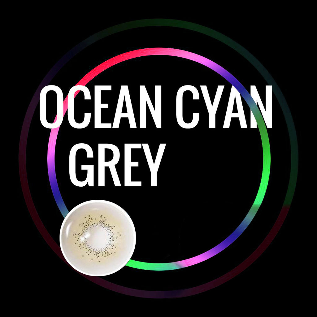 Eye Circle Lens Ocean Cyan Grey prescription colored contact lenses-Eyemi