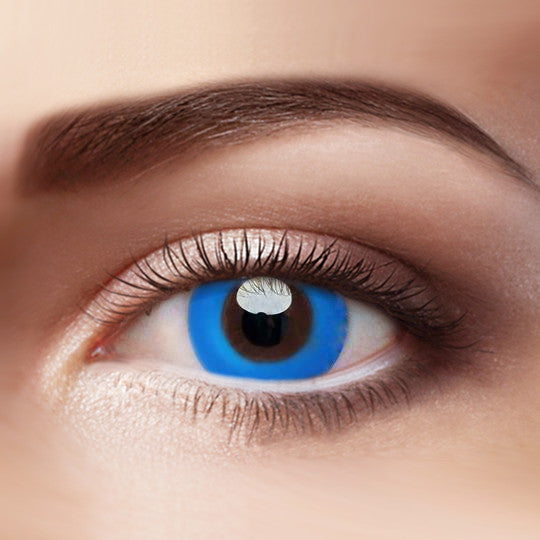 Eye Circle Lens Pure Blue prescription colored contact lenses-Eyemi