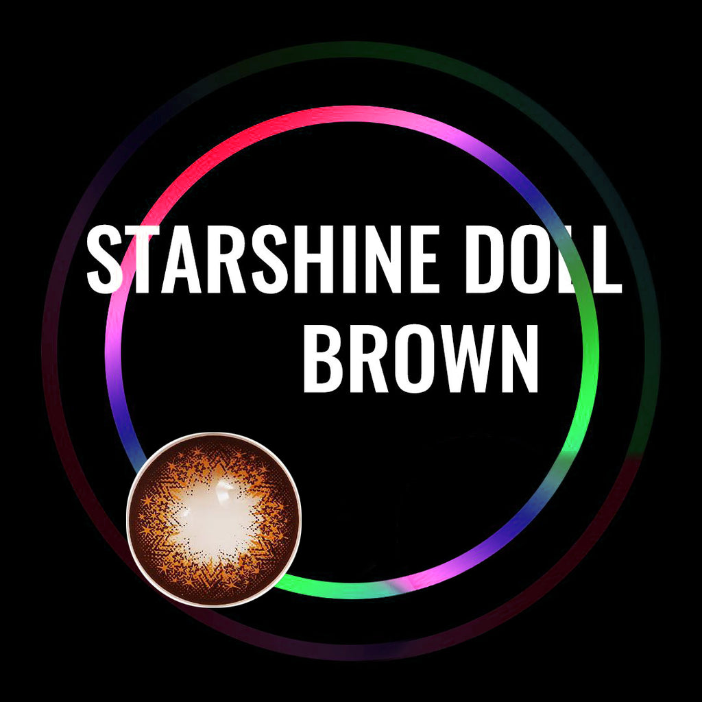 Eye Circle Lens Starshine Doll Brown prescription colored contact lenses-Eyemi