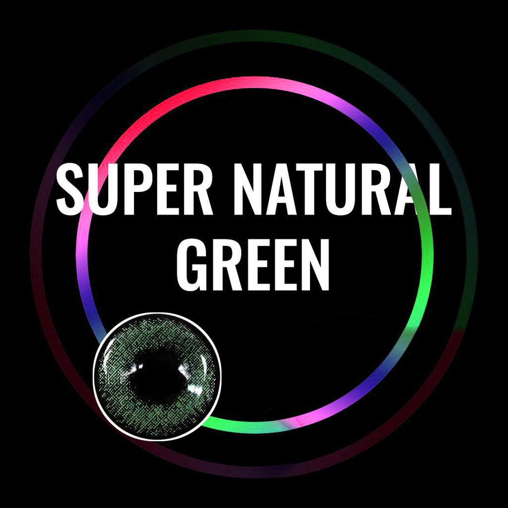 Eye Circle Lens Super Natural Green prescription colored contact lenses-Eyemi