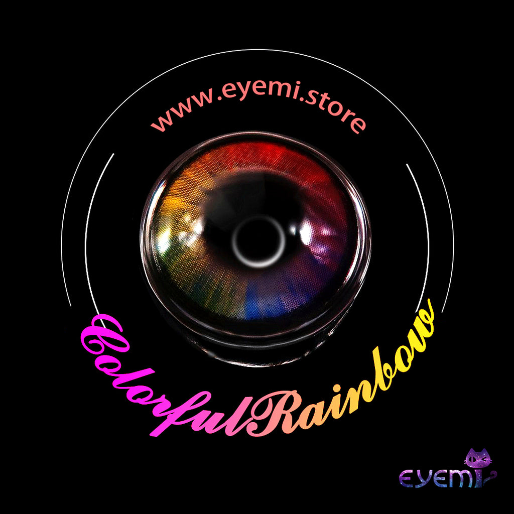 Eye Circle Lens Colorful Rainbow prescription colored contact lenses-Eyemi