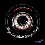 Eye Circle Lens Crystal Ball Deep Grey prescription colored contact lenses-Eyemi