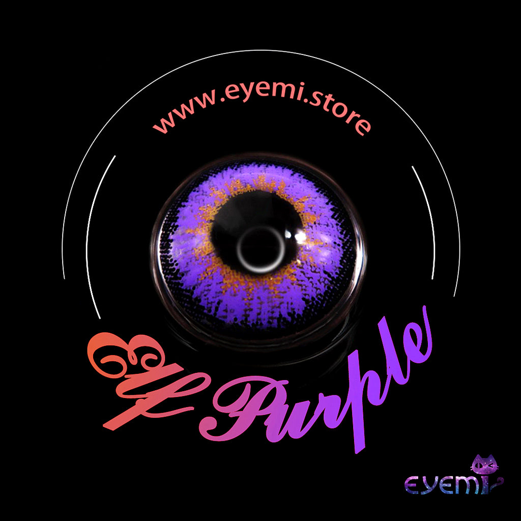 Eye Circle Lens Elf Purple prescription colored contact lenses-Eyemi