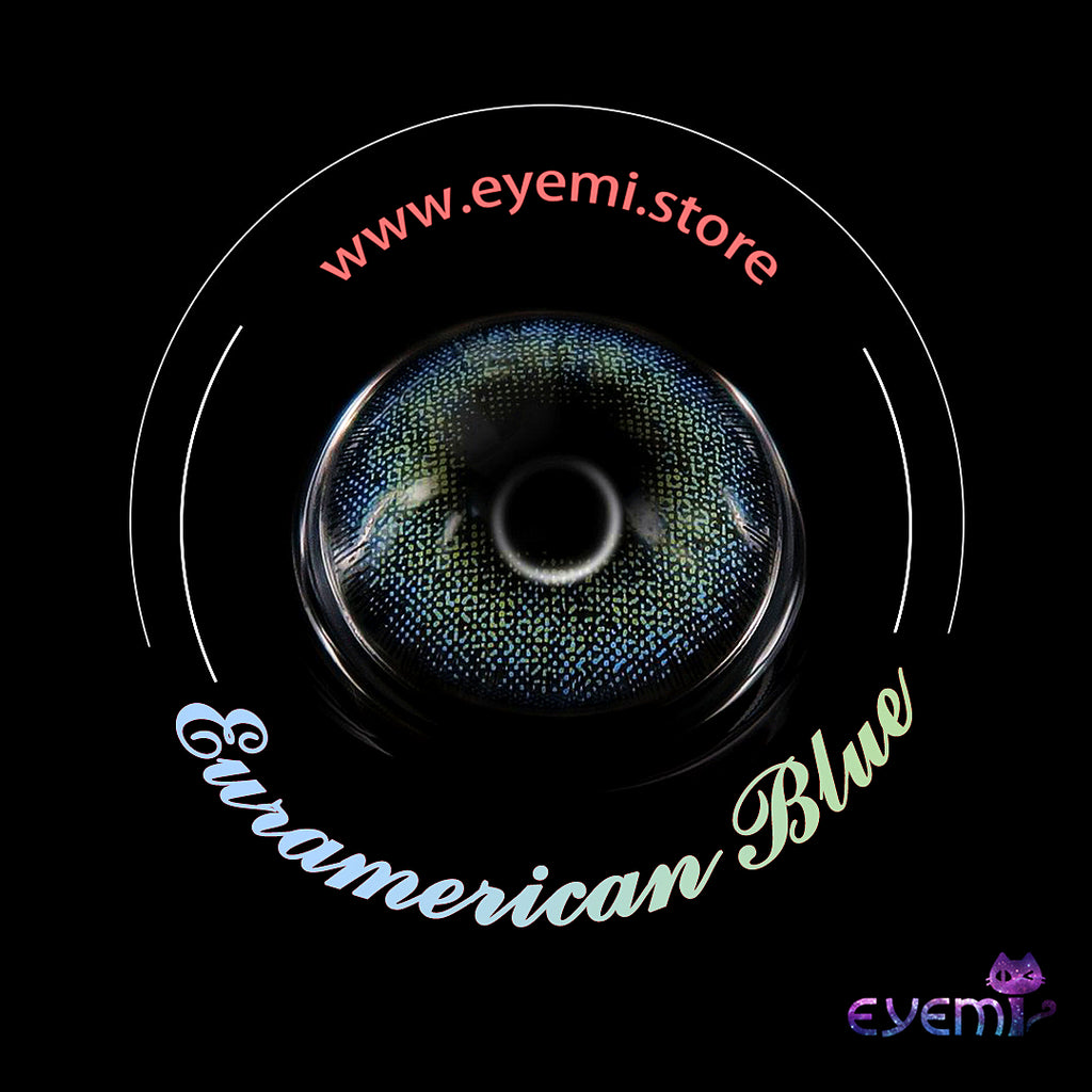 Eye Circle Lens Euramerican Blue prescription colored contact lenses-Eyemi