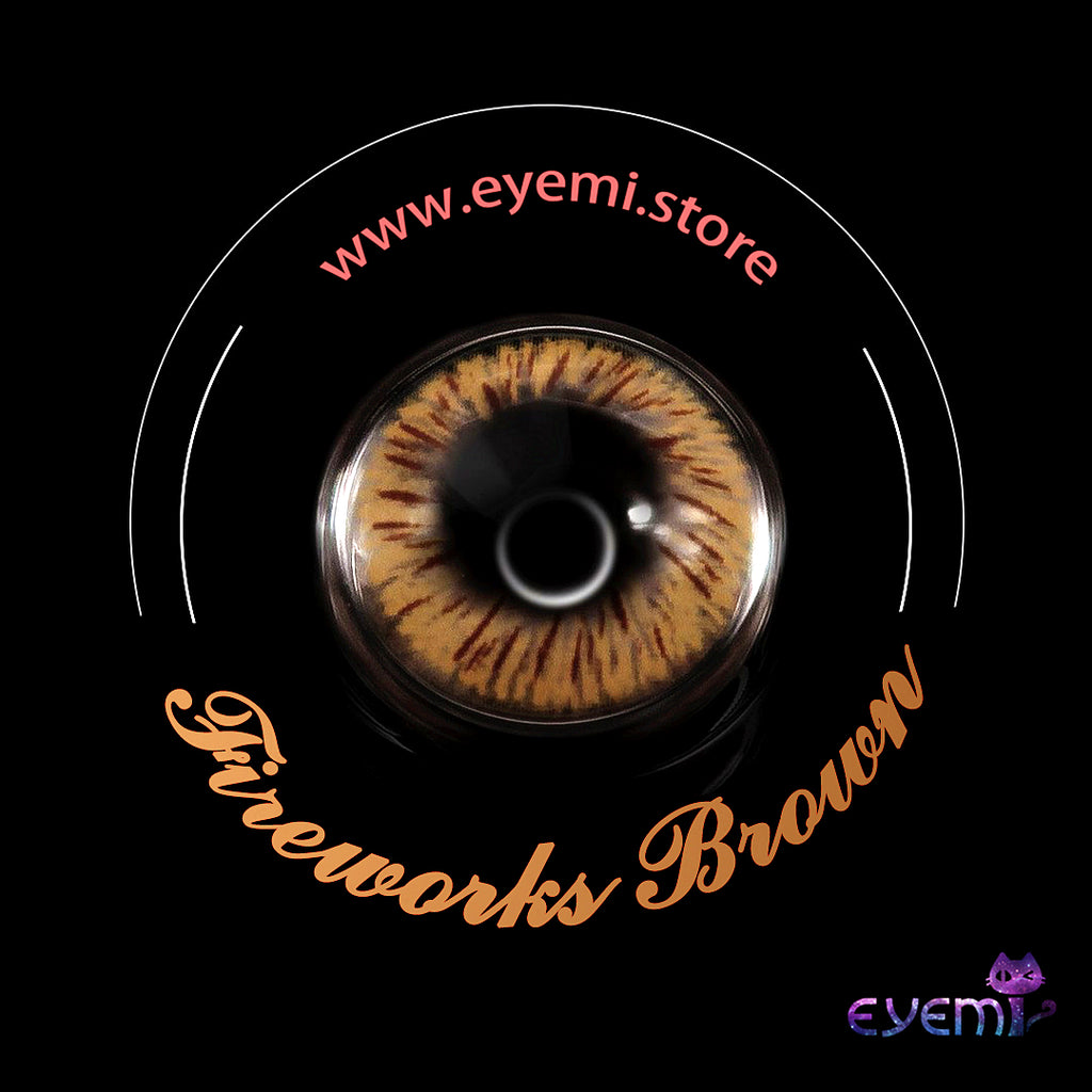 Eye Circle Lens Fireworks Brown prescription colored contact lenses-Eyemi