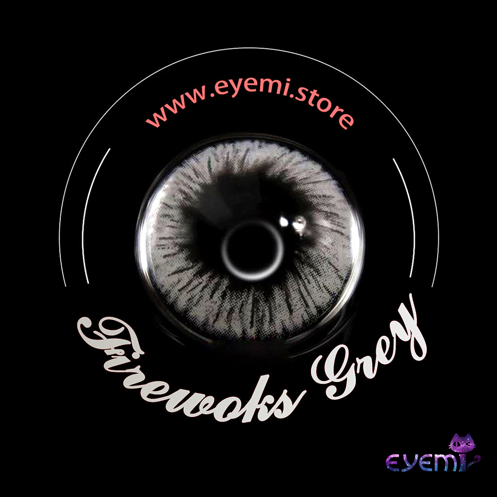 Eye Circle Lens Fireworks Grey prescription colored contact lenses-Eyemi
