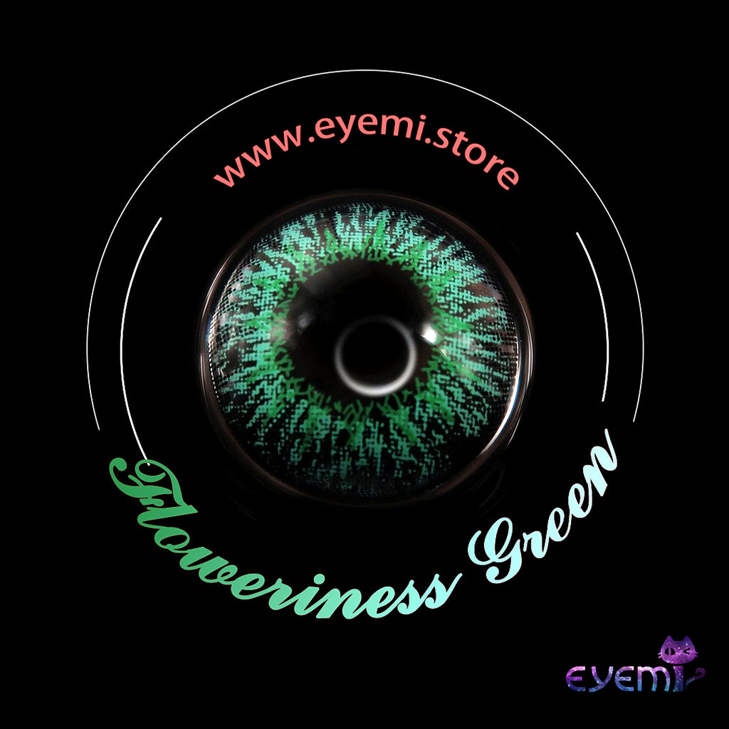 Eye Circle Lens Floweriness Green prescription colored contact lenses-Eyemi
