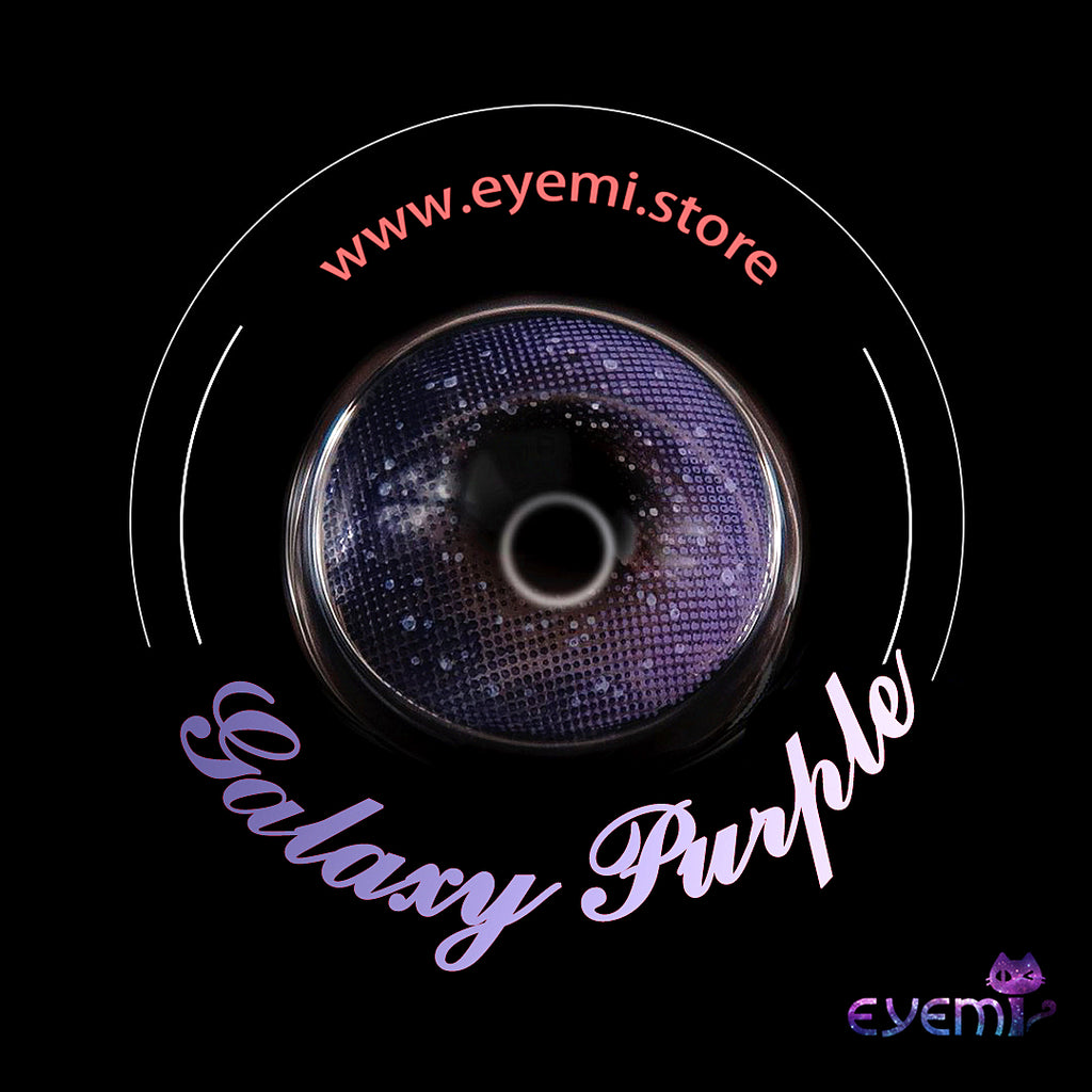 Eye Circle Lens Galaxy Purple prescription colored contact lenses-Eyemi