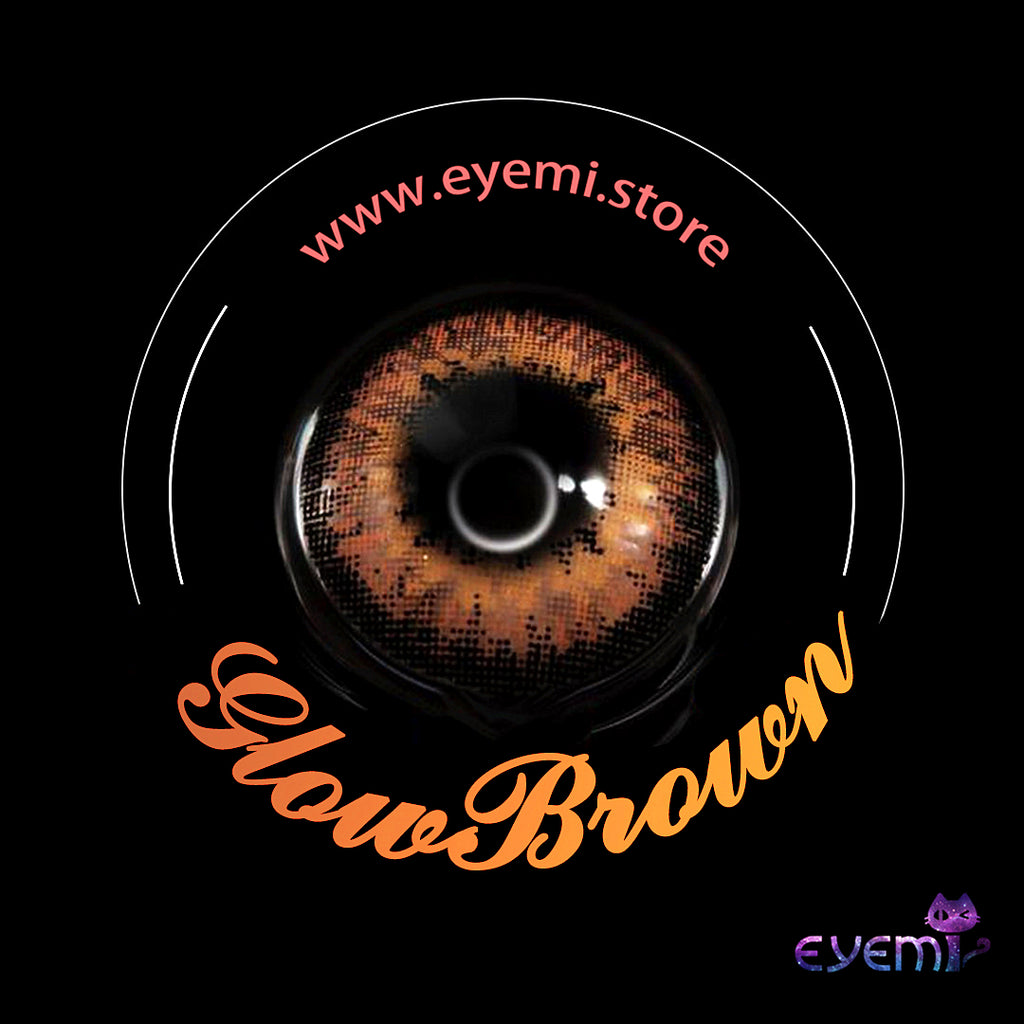 Eye Circle Lens Glow Brown prescription colored contact lenses-Eyemi