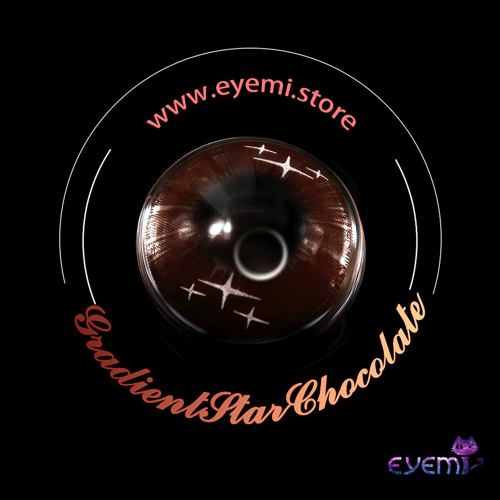 Eye Circle Lens Gradient Star Chocolate prescription colored contact lenses-Eyemi
