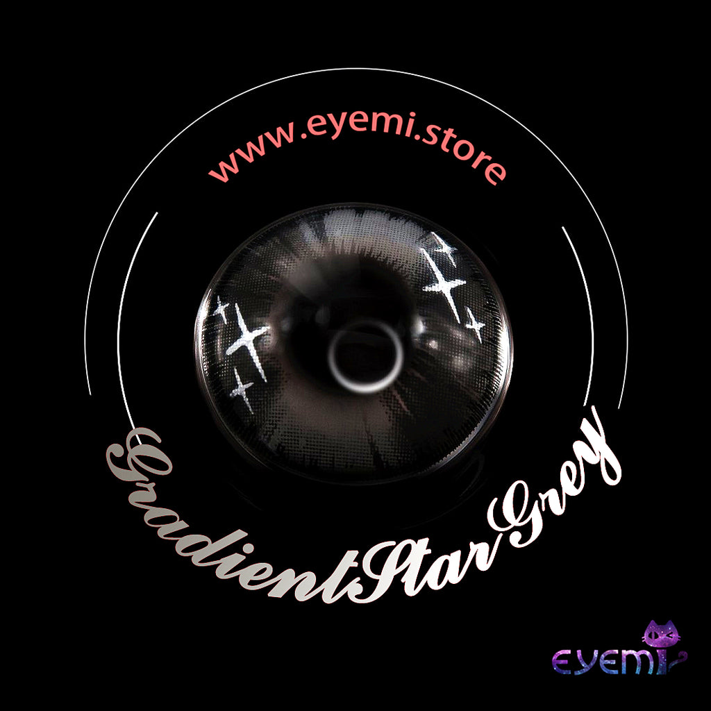 Eye Circle Lens Gradient Star Grey prescription colored contact lenses-Eyemi
