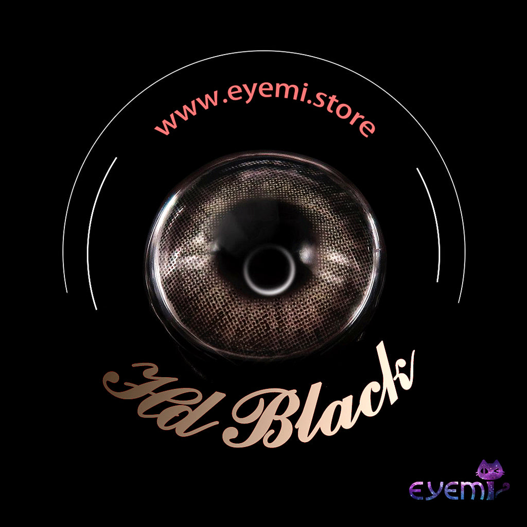 Eye Circle Lens Hd Black prescription colored contact lenses-Eyemi