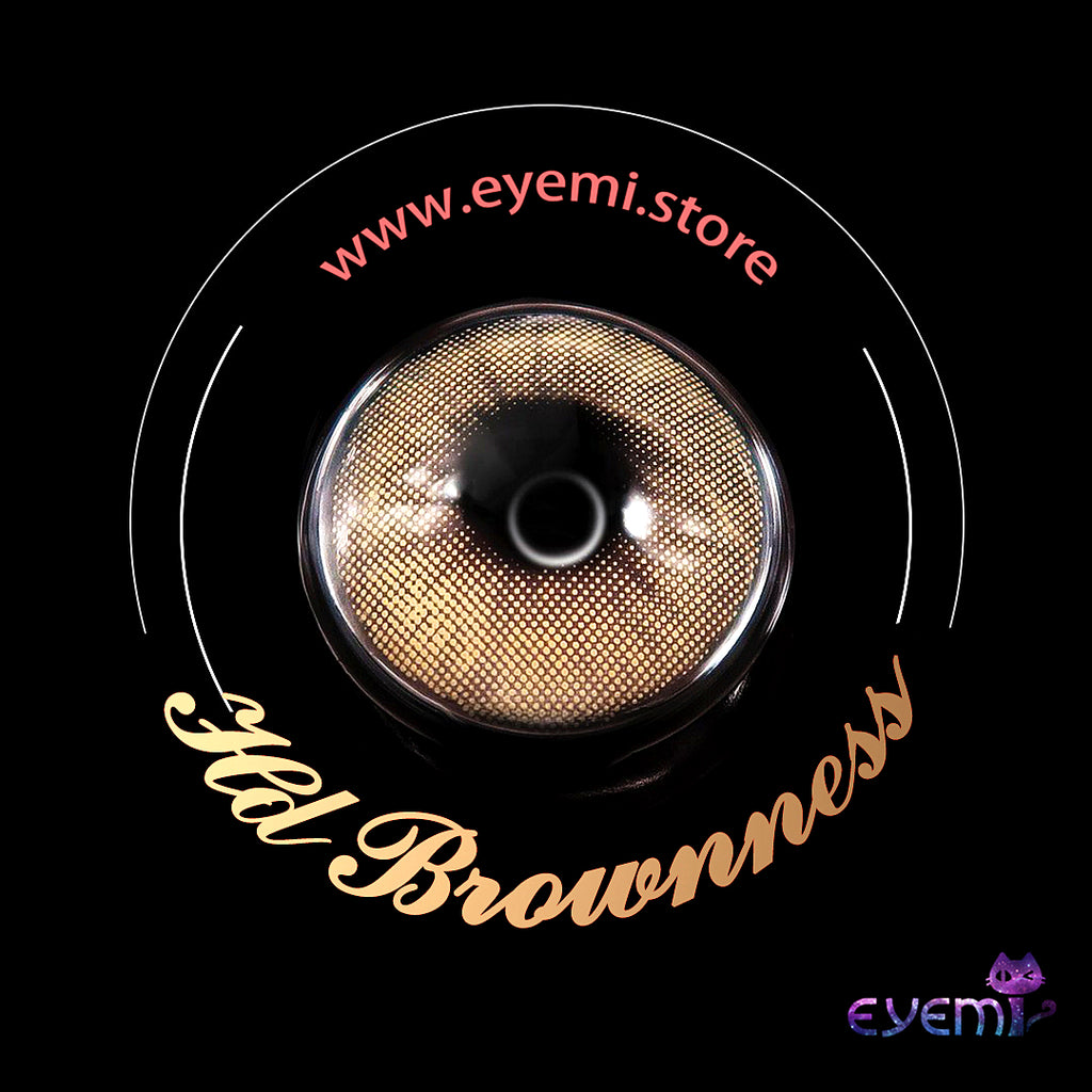 Eye Circle Lens Hd Brownness prescription colored contact lenses-Eyemi