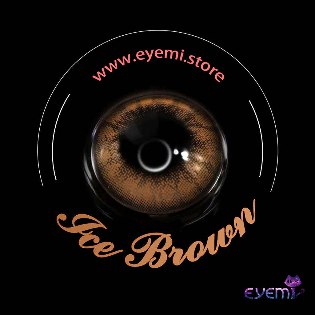 Eye Circle Lens Ice Brown prescription colored contact lenses-Eyemi