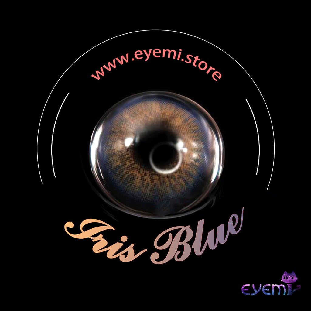 Eye Circle Lens Iris Blue prescription colored contact lenses-Eyemi