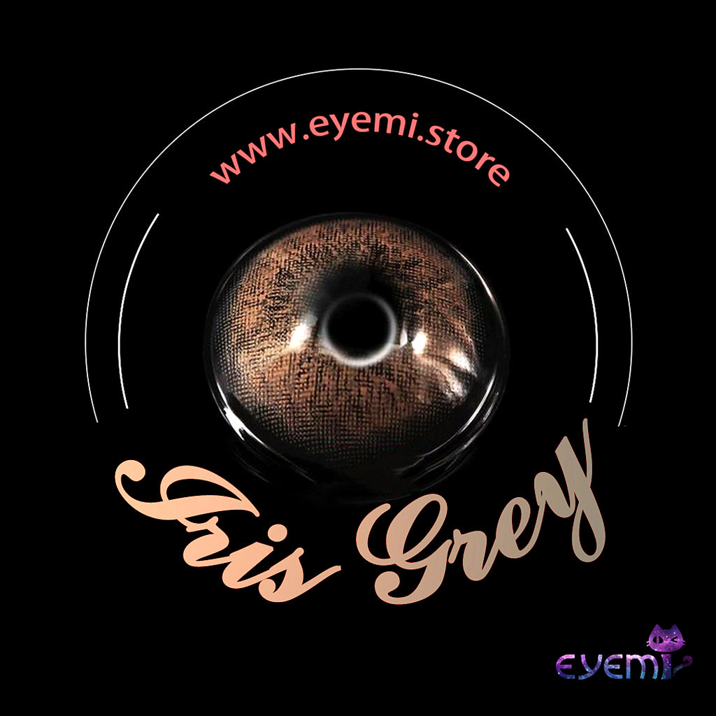 Eye Circle Lens Iris Grey prescription colored contact lenses-Eyemi