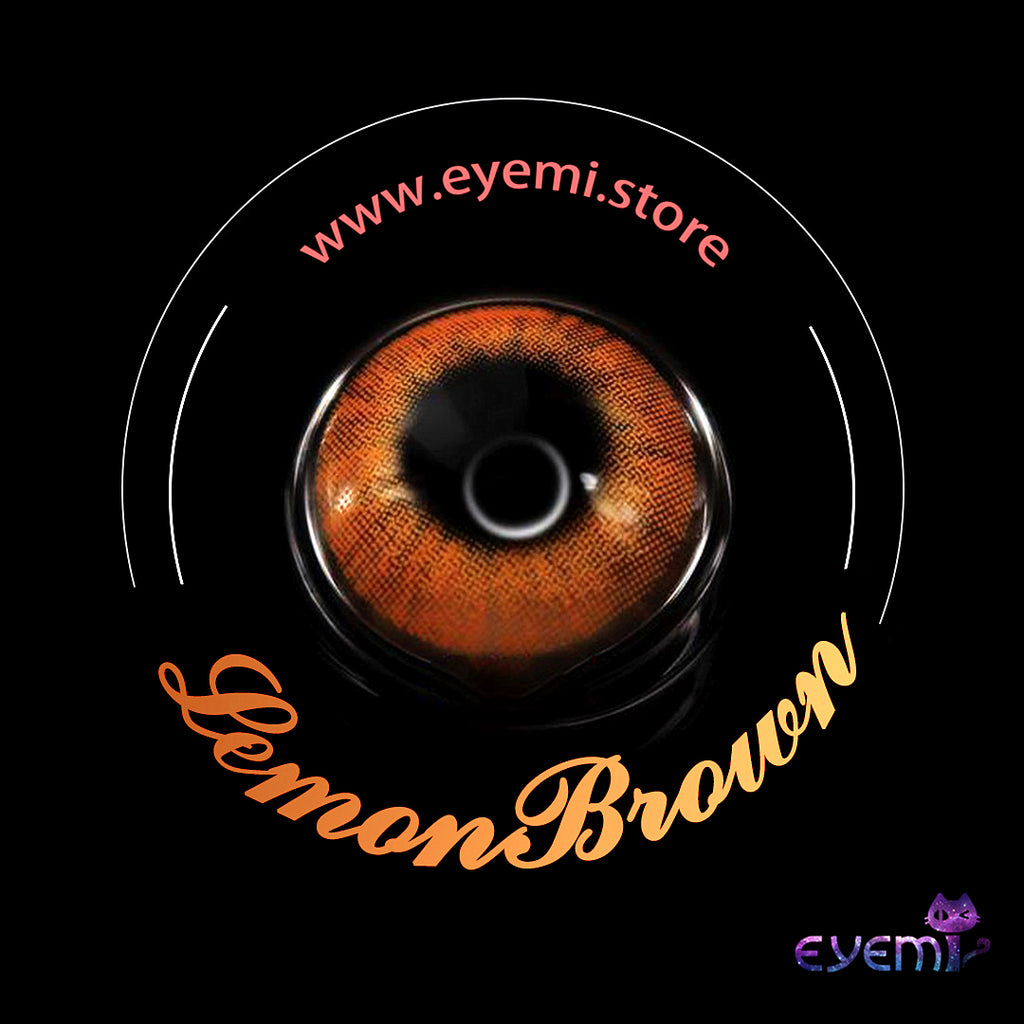 Eye Circle Lens Lemon Brown prescription colored contact lenses-Eyemi