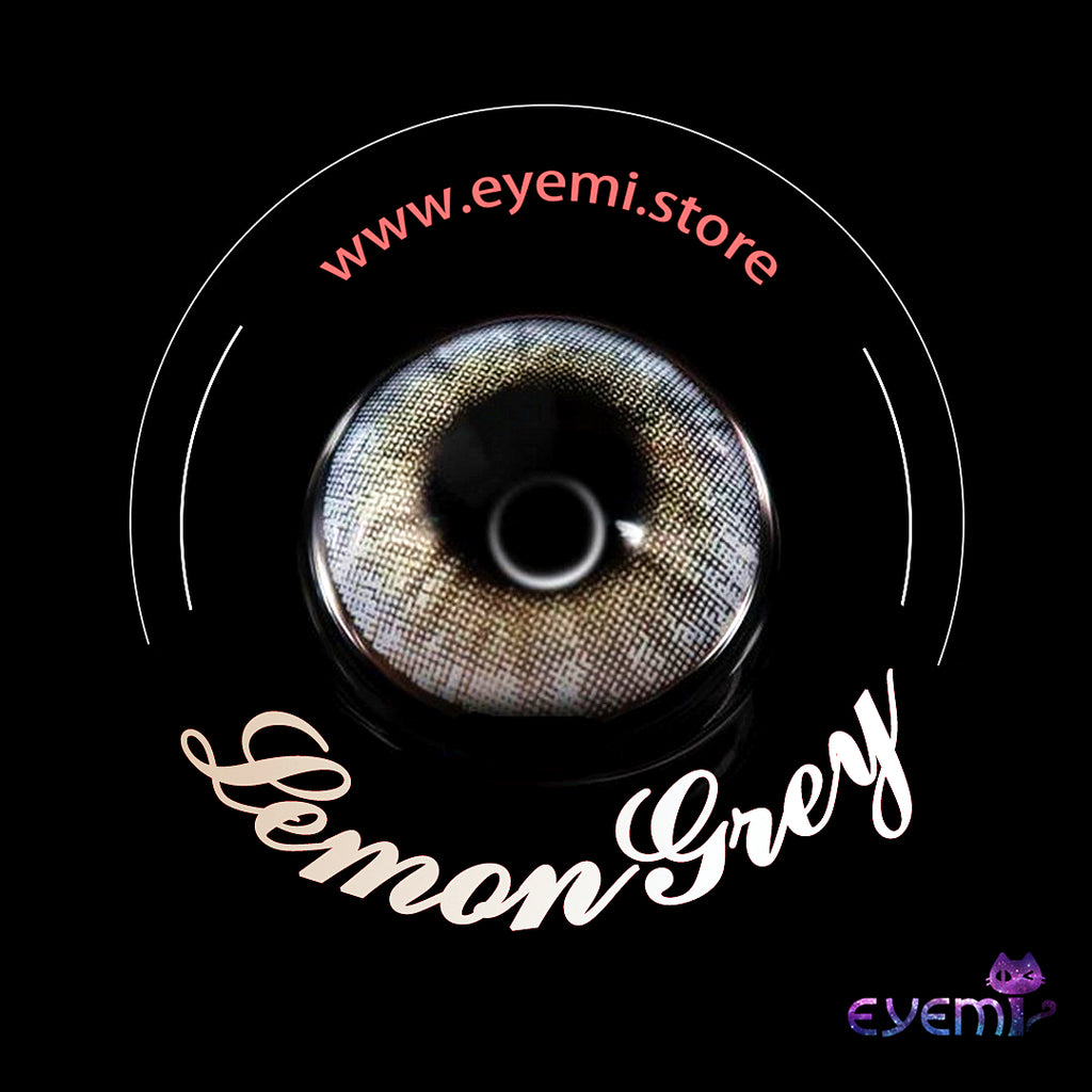 Eye Circle Lens Lemon Grey prescription colored contact lenses-Eyemi