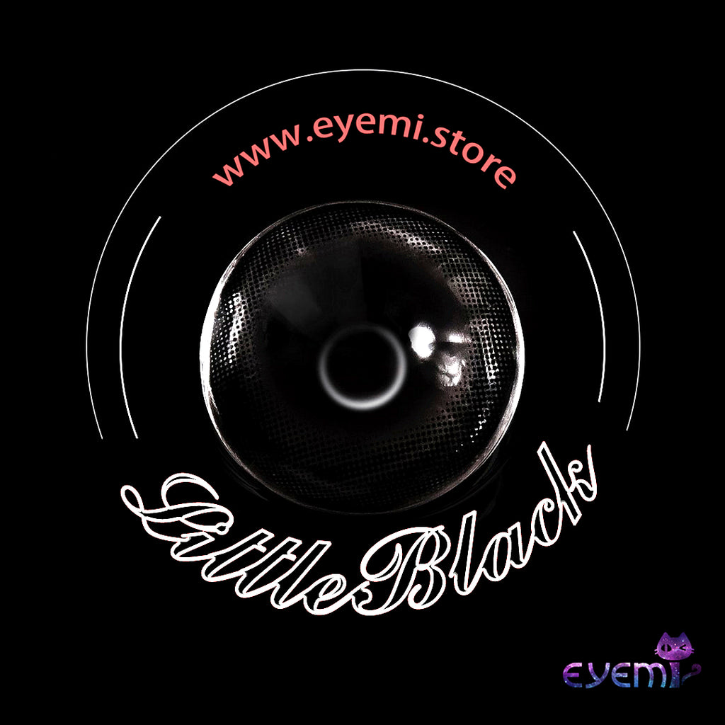 Eye Circle Lens Little Black Circle prescription colored contact lenses-Eyemi