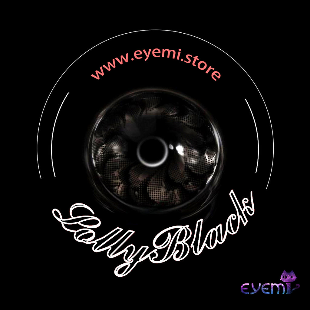 Eye Circle Lens Lolly Black prescription colored contact lenses-Eyemi