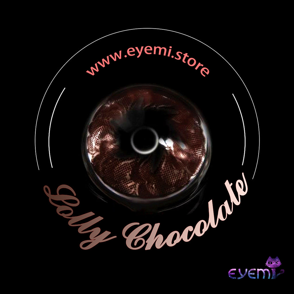 Eye Circle Lens Lolly Chocolate prescription colored contact lenses-Eyemi