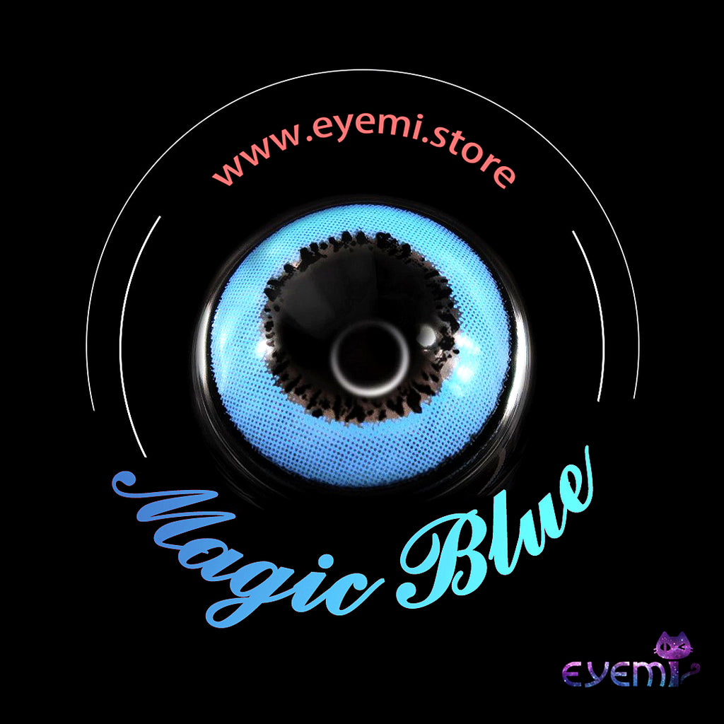Eye Circle Lens Magic Blue prescription colored contact lenses-Eyemi