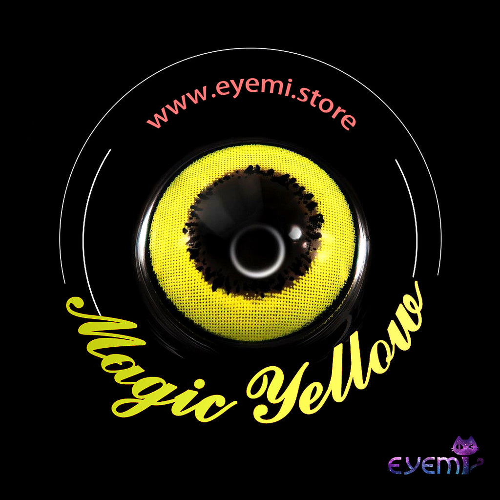 Eye Circle Lens Magic Yellow prescription colored contact lenses-Eyemi