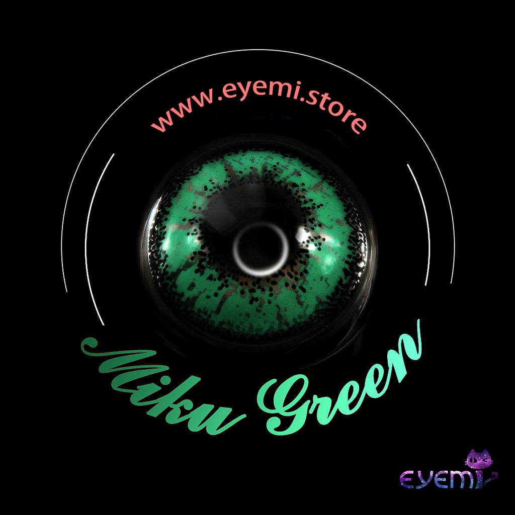 Eye Circle Lens Miku Green prescription colored contact lenses-Eyemi
