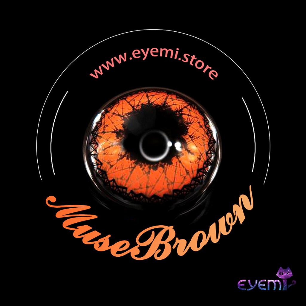 Eye Circle Lens Muse Brown prescription colored contact lenses-Eyemi