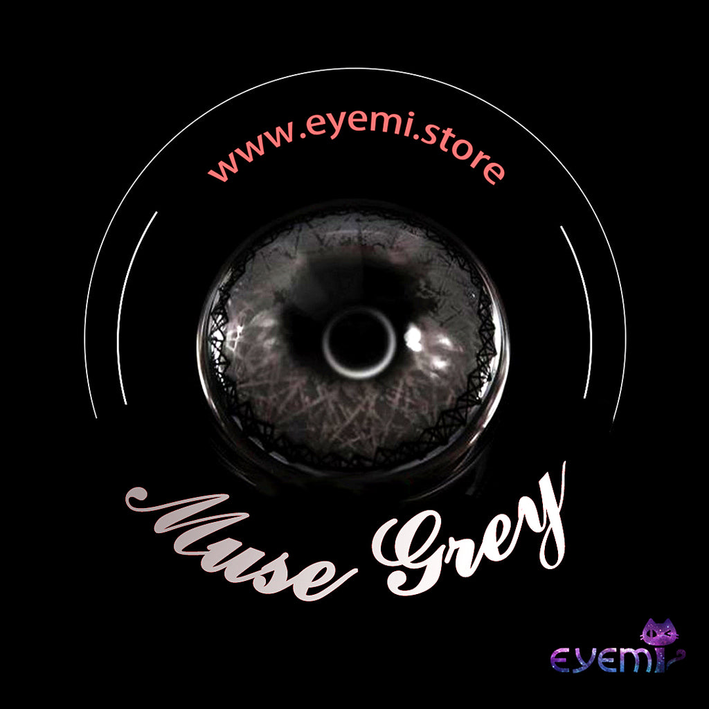 Eye Circle Lens Muse Grey prescription colored contact lenses-Eyemi