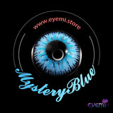 Eye Circle Lens Mystery Blue prescription colored contact lenses-Eyemi