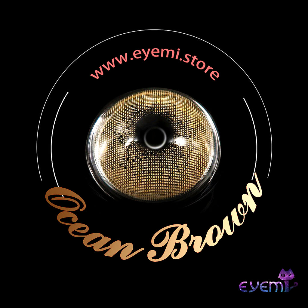 Eye Circle Lens Ocean Brown prescription colored contact lenses-Eyemi