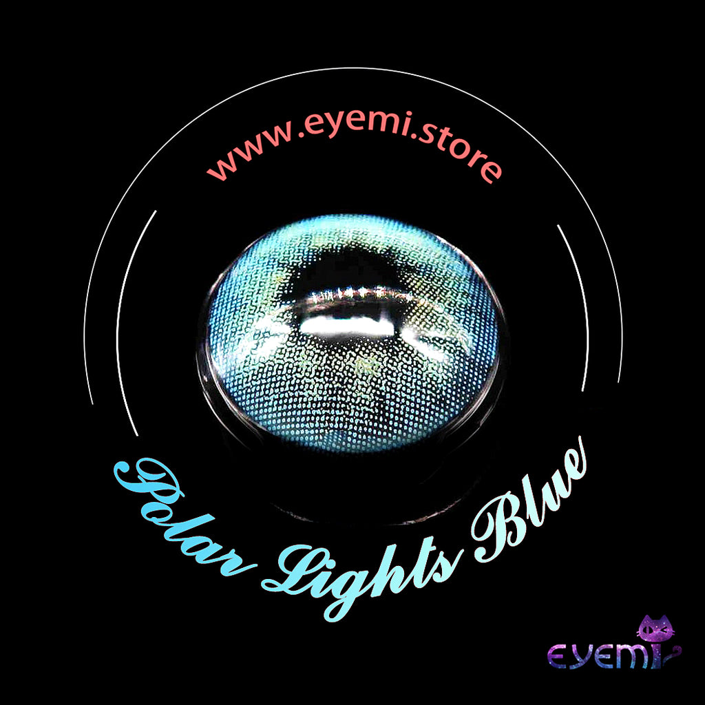 Eye Circle Lens Polar Lights Blue prescription colored contact lenses-Eyemi