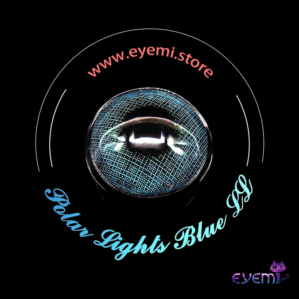 Eye Circle Lens Polar Lights Blue II prescription colored contact lenses-Eyemi