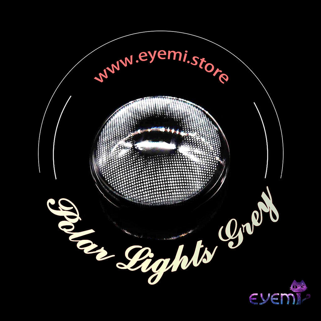 Eye Circle Lens Polar Lights Grey prescription colored contact lenses-Eyemi