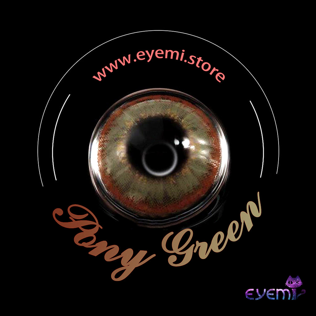 Eye Circle Lens Pony Green prescription colored contact lenses-Eyemi