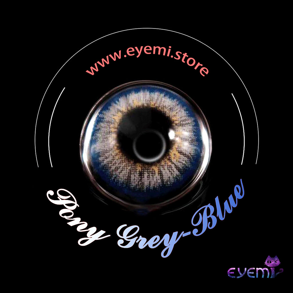 Eye Circle Lens Pony Grey-Blue prescription colored contact lenses-Eyemi