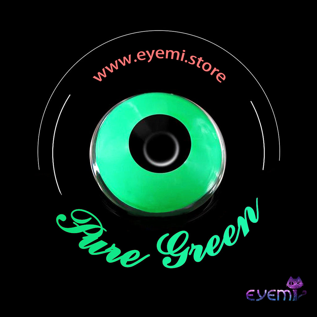 Eye Circle Lens Pure Green Naruto prescription colored contact lenses-Eyemi