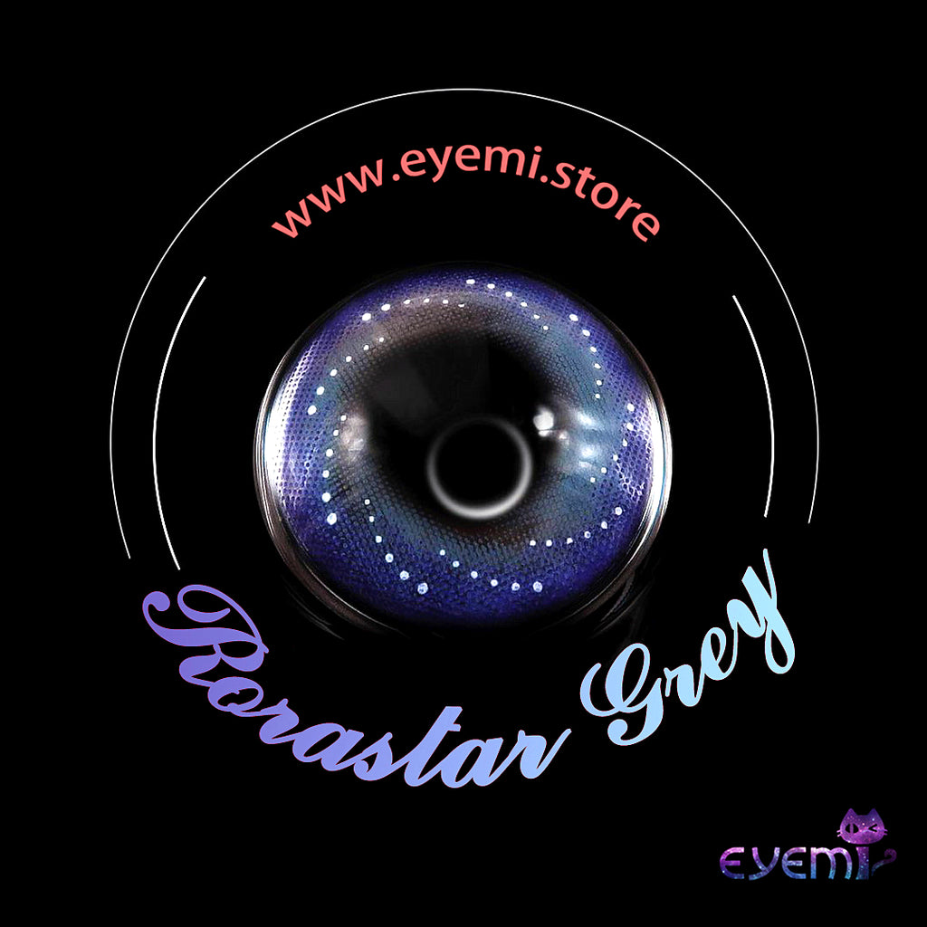Eye Circle Lens Rorastar Grey prescription colored contact lenses-Eyemi