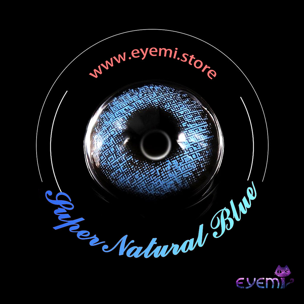 Eye Circle Lens Super Natural Blue prescription colored contact lenses-Eyemi