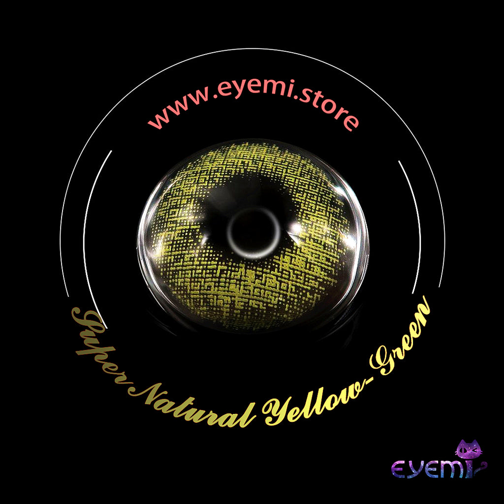 Eye Circle Lens Super Natural Yellow-Green prescription colored contact lenses-Eyemi