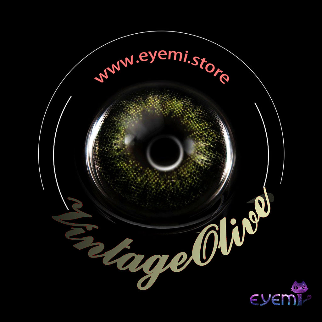 Eye Circle Lens Vintage Olive prescription colored contact lenses-Eyemi