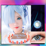 Eye Circle Lens Elf Blue prescription colored contact lenses-Eyemi