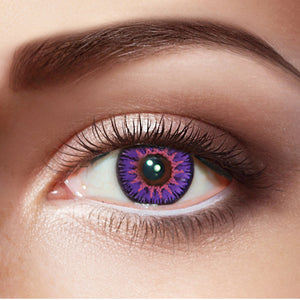 Eyemi Floweriness Purple Colored Contact Lenses