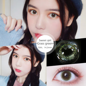 Eye Circle Lens Sweet Girl Green prescription colored contact lenses-Eyemi