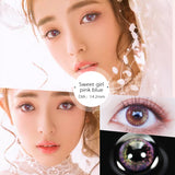 Eye Circle Lens Sweet Girl Pink prescription colored contact lenses-Eyemi